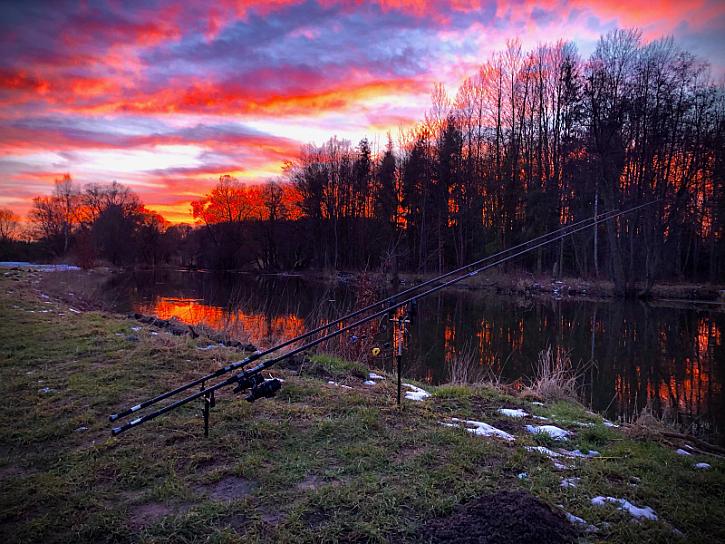 Západ slunce na Ohři